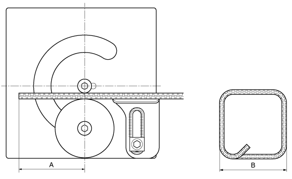 Minimum required (A) dimensions